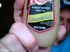 shoenice22 eats a jar of horseradish sauce in 1 minute