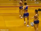Male Chinese Cheerleader Has Moves