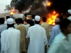 8 ISAF Supply Trucks burned in Nowshera district - 9.May.2011