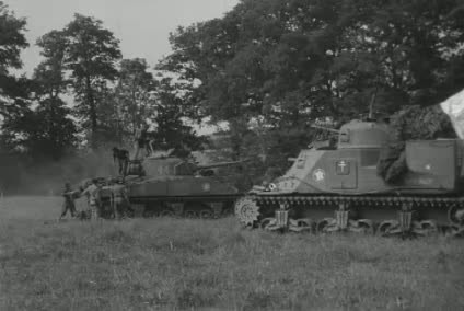 Horrors of war. Sherman tank casualties. | PopScreen
