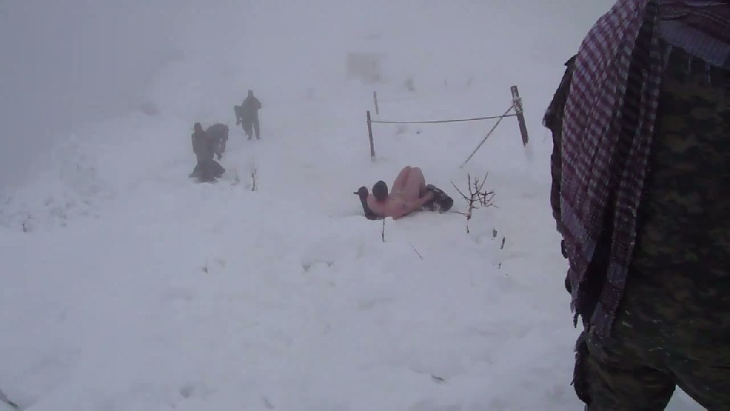 Naked Sledding In A Combat Zone - Afghanistan