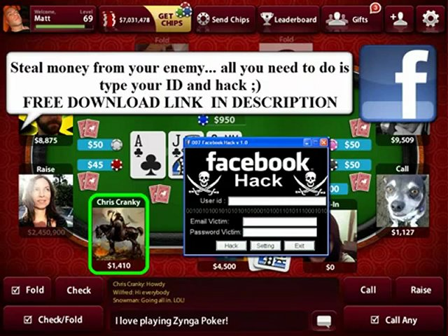 Poker zynga hack chips