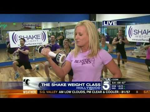 Allie MacKay - Shake Weight workout part 2 (6 AM Newscast) | PopScreen
