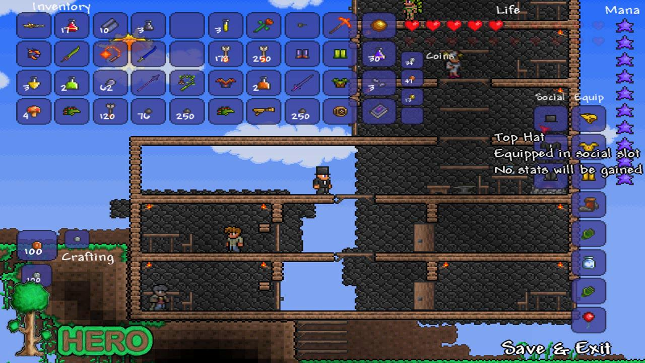 terraria how to get numbers off my screen