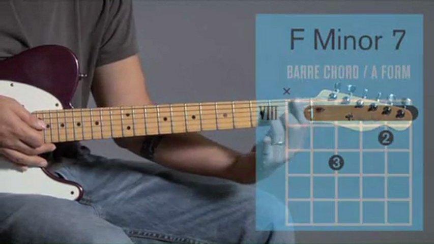 Barre Chords f Minor 7  F Minor 7 Chord