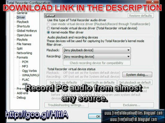 Total Recorder Pro 8.3 Build 4370 Free Full Download With Crack