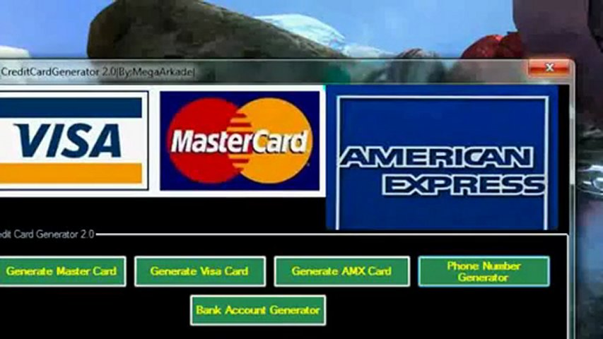 CREDIT CARD GENERATOR WITH CVV AND EXPIRY DATE