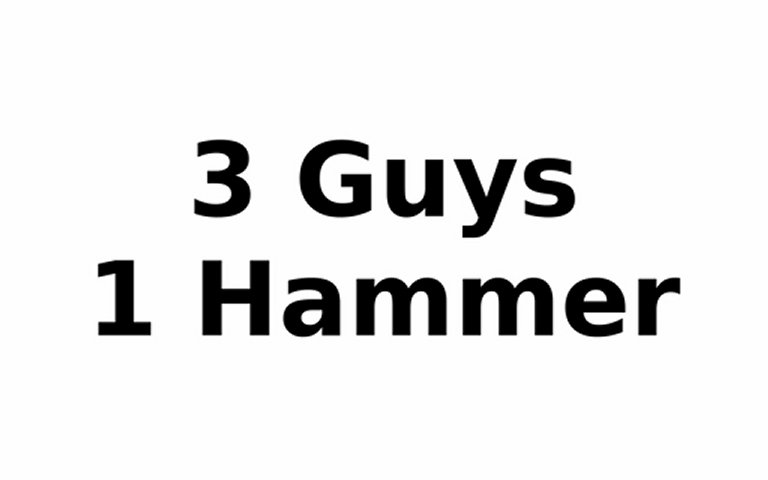 3 Guys 1 Hammer Original http://www.5mzen.com/3-guys-one-hammer-original-video