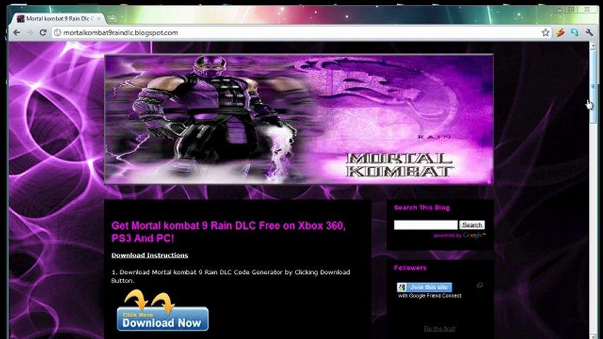 Mortal Kombat 9 Rain DLC Character Unlock Codes Free | PopScreen