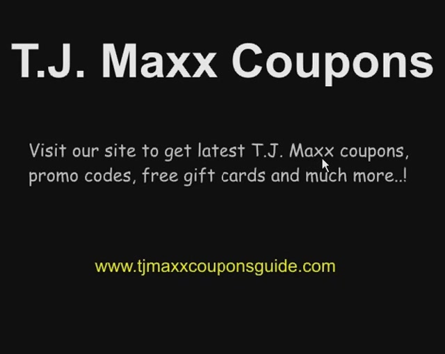 Tj maxx printable coupons december 2018