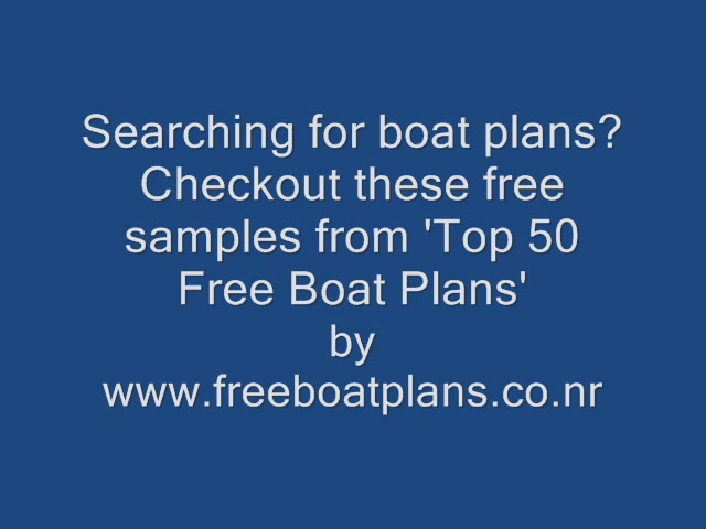 Boat plans download 60 | AD
