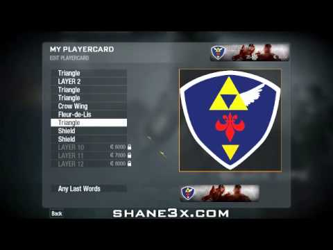 Call Of Duty: Black Ops Emblem Editor Tutorial - Hyrule Shield (Link