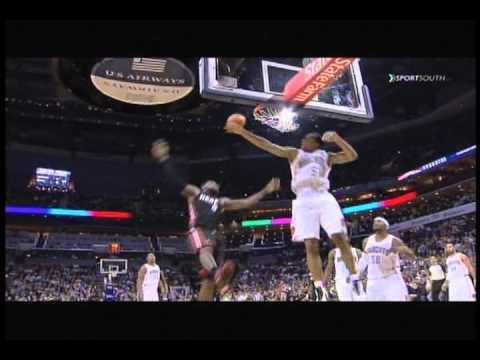 LeBron James dunks off Gerald Henderson's head: Miami Heat at Charlotte Bobcats | PopScreen