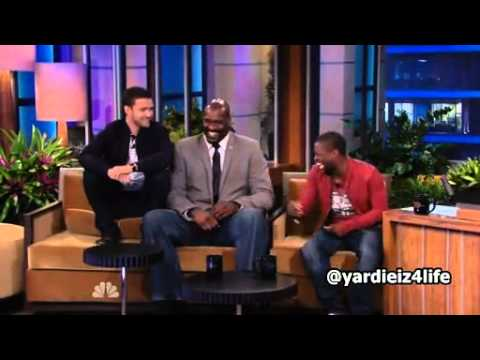 Funny Shaq O'Neal Picks Up Kevin Hart Like A Baby (Live On Air) | PopScreen