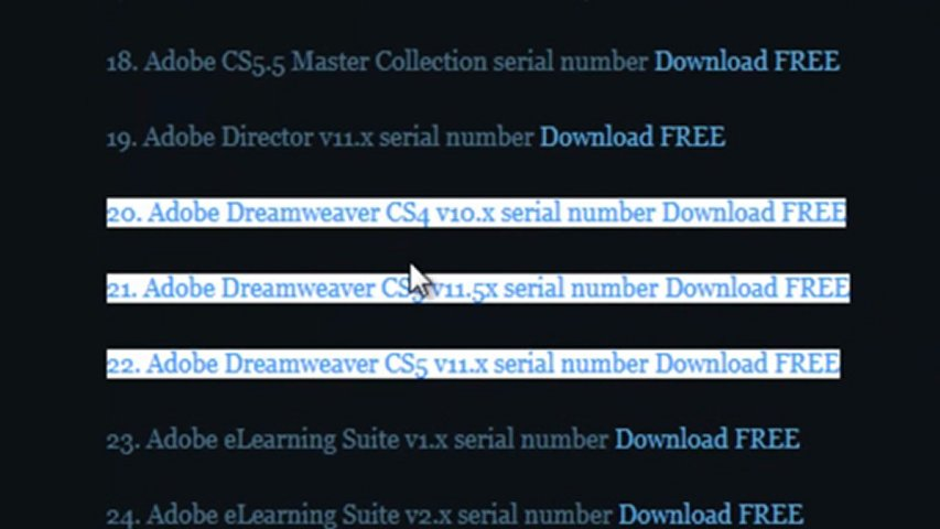 Adobe dreamweaver serial number CS5 generator.