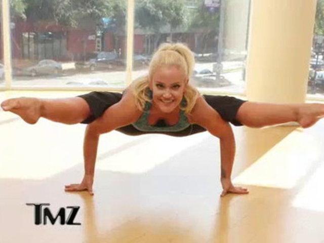 TMZ on TV _ Lacey Schwimmer's Insane Flexibility   PopScreen