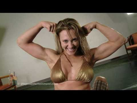 Sexy Mixed Wrestling with Really Pretty Tall Blond Bodybuilder Scissoring Man | PopScreen