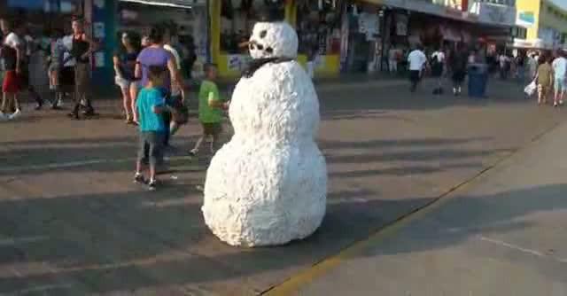 snowman pranks holiday shoppers essay