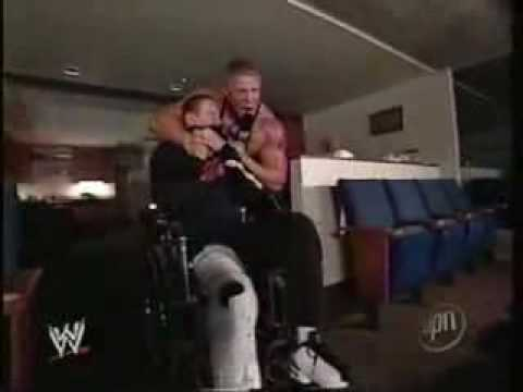 Brock Lesnar Throws Zach Gowen Down Some Stairs.flv | PopScreen