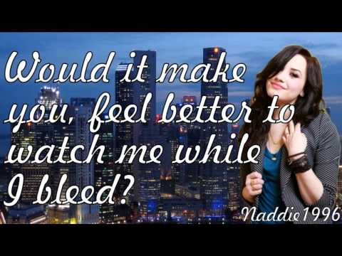 demi lovato skyscraper lyrics on screen new full song
