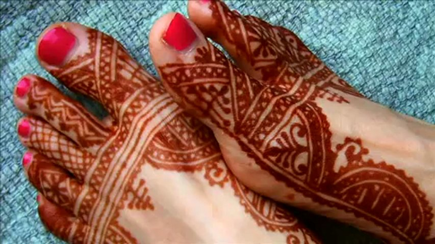 Mehndi Designs Hands And Feet : Simple and adorable mehndi design for hands feet henna tattoo