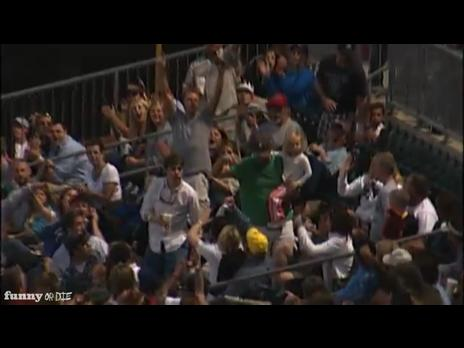Cool Dad Catches Foul Ball While Holding Baby | PopScreen