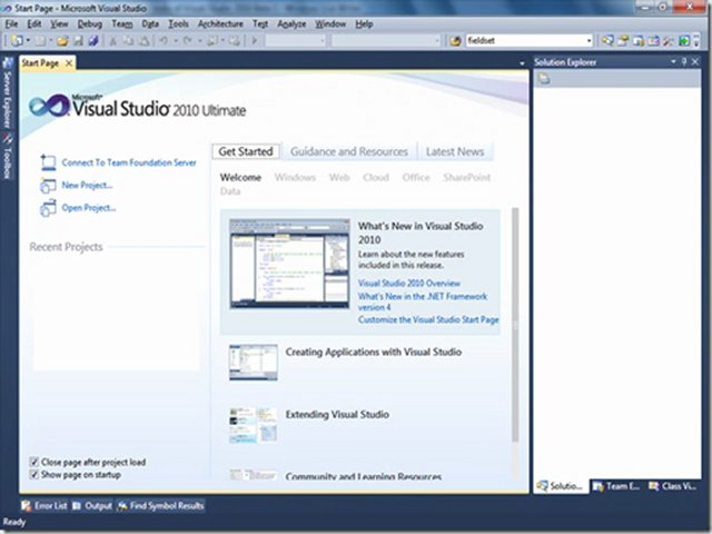 Visual Studio Express 2010 Edition Overview