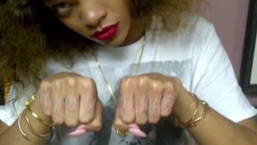Rihanna Thug Life Tattoo Rihanna Tweets New 39 Thug Life 39