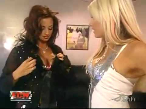 Candice Michelle and Kelly Kelly Striptease Expose on ECW | PopScreen