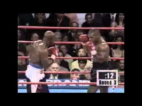 Mike Tyson vs Evander Holyfield Round 3 : Mike Tyson Bites Chunks Off Holyfields Ear Twice | PopScreen