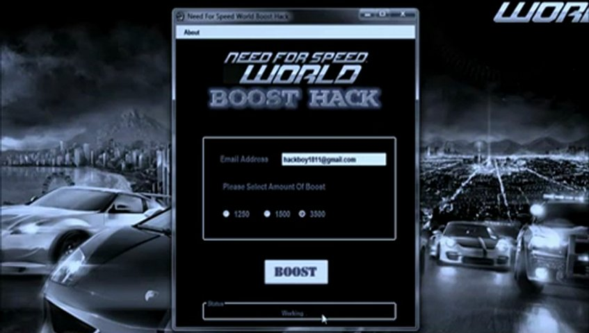 NFS World Boost Hack 2012 Download Free and Fast | PopScreen