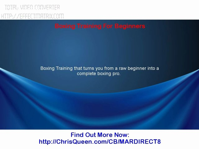 Boxing Training For Beginners | PopScreen